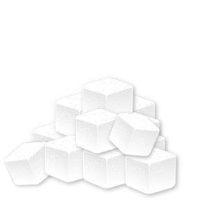 Illustration von Zuckerwürfel